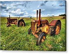 John Deere Tractors I - Blue Ridge Acrylic Print by Dan Carmichael