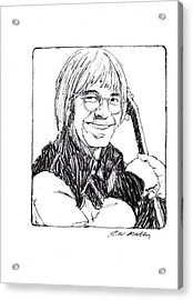 John Denver Acrylic Print by J W Kelly