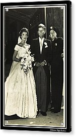 John F Kennedy And Jacqueline On Wedding Day Acrylic Print