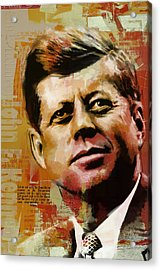 John F. Kennedy Acrylic Print by Corporate Art Task Force