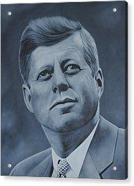 John F Kennedy Acrylic Print by David Dunne