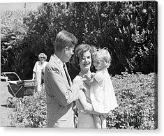 John F. Kennedy Jacqueline And Caroline Acrylic Print