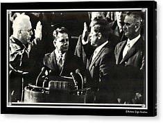John F Kennedy Takes Oath Of Office Acrylic Print