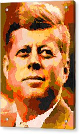 John Fitzgerald Kennedy - Abstract Acrylic Print