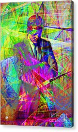 John Fitzgerald Kennedy Jfk In Abstract 20130610 Acrylic Print