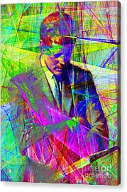 John Fitzgerald Kennedy Jfk In Abstract 20130610v2 Acrylic Print