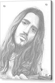 John Frusciante Acrylic Print by Olivia Schiermeyer