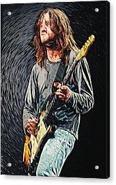 John Frusciante Acrylic Print by Taylan Apukovska