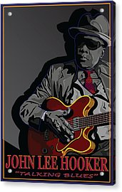 John Lee Hooker Acrylic Print by Larry Butterworth