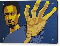 Acrylic Print featuring the painting John Legend by Rachel Natalie Rawlins