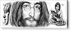 John Lennon Art Drawing Sketch Poster Acrylic Print by Kim Wang