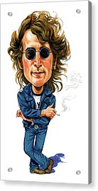 John Lennon Acrylic Print by Art