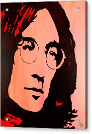 John Lennon Beatles Pop Art Acrylic Print