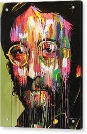 John Lennon Acrylic Print by Bruce McLachlan