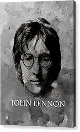 John Lennon Bw Acrylic Print