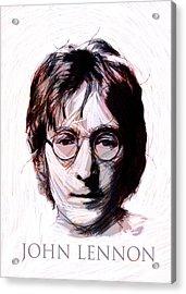 John Lennon Color Acrylic Print