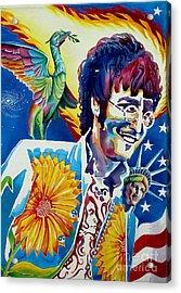 John Lennon Acrylic Print by Debbie  Diamond