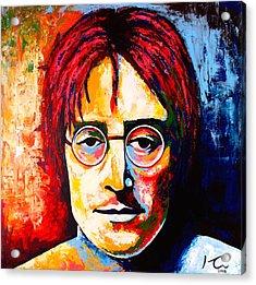 John Lennon Acrylic Print by Hugo C Aguilar