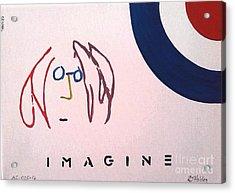 John Lennon - Imagine Acrylic Print by Richard John Holden RA