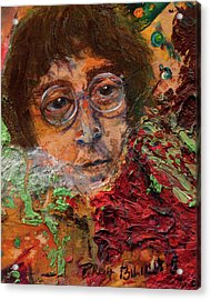 John Lennon In The Thick Of Life Acrylic Print