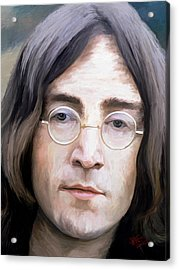 John Lennon Acrylic Print by James Shepherd