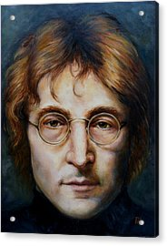 John Lennon Acrylic Print by June Ponte
