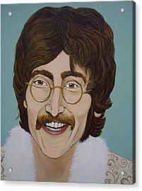 John Lennon Acrylic Print by Linda Kassabian