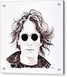 John Lennon Acrylic Print by Martin Howard