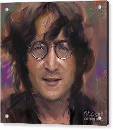 John Lennon Portrait Acrylic Print by Dominique Amendola