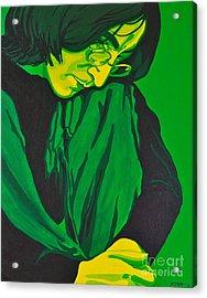 John Lennon Acrylic Print by Rebecca Mott