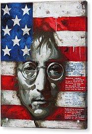 John Lennon -the Man Of Peace Acrylic Print by Vitaliy Shcherbak