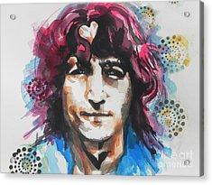 John Lennon..up Close Acrylic Print by Chrisann Ellis