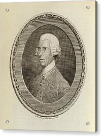 John Lettsome Acrylic Print by Middle Temple Library