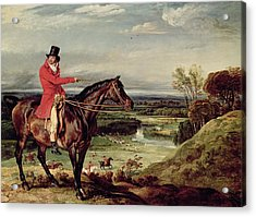 John Levett Hunting In The Park At Wychnor Acrylic Print by James Ward