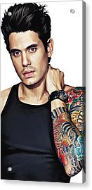 John Mayer Artwork  Acrylic Print by Sheraz A