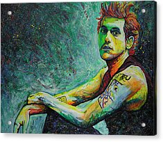 John Mayer Acrylic Print by Joshua Morton