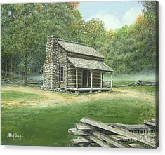 John Oliver Cabin Acrylic Print by Bob  George