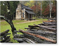 John Oliver Cabin - D000352 Acrylic Print by Daniel Dempster