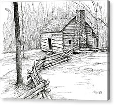 John Ownby Cabin Acrylic Print by Bob  George