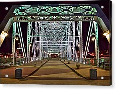 John Seigenthaler Pedestrian Bridge Acrylic Print by Frozen in Time Fine Art Photography
