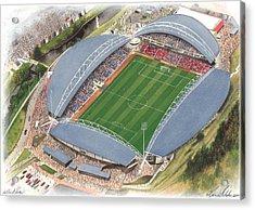 John Smith's Stadium - Huddersfield Town Acrylic Print by Kevin Fletcher