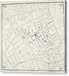 John Snow's Cholera Map Acrylic Print by British Library