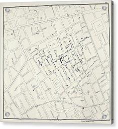 John Snow's Cholera Map Acrylic Print