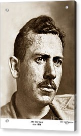 John Steinbeck American Author Circa 1938 Acrylic Print by California Views Mr Pat Hathaway Archives