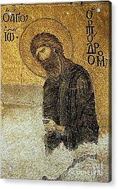 John The Baptist-detail Of Deesis Mosaic  Hagia Sophia-judgement Day Acrylic Print by Urft Valley Art