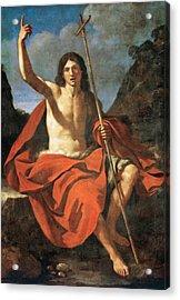 John The Baptist Acrylic Print by Guercino