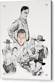 John Wayne Commemoration 1930 To 1976 Acrylic Print by Joe Lisowski