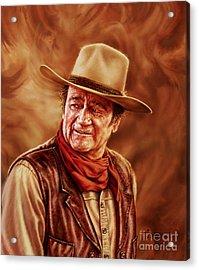 John Wayne Acrylic Print by Dick Bobnick