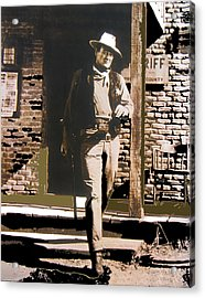 John Wayne Exciting The Sheriff's Office Rio Bravo Set Old Tucson Arizona 1959-2013 Acrylic Print