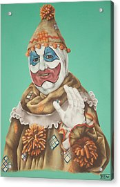John Wayne Gacy As Pogo The Clown Acrylic Print